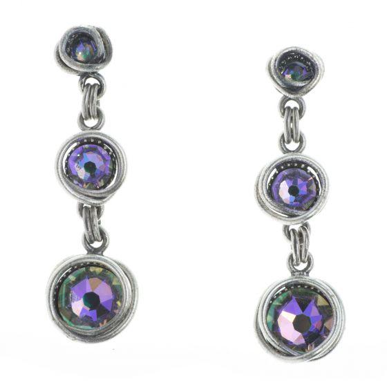 Konplott Sparkle Twist Dangling Stud Crystal Paradise Shine Earrings