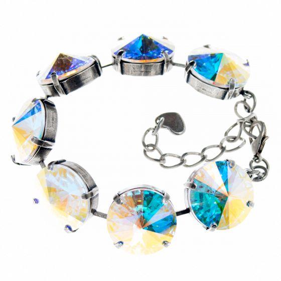 YPMCO 18mm Swarovski Crystal AB Bracelet - Chunky and Lightweight