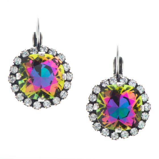 YPMCO 12mm Crystal Electra Earrings - Dramatically Brilliant