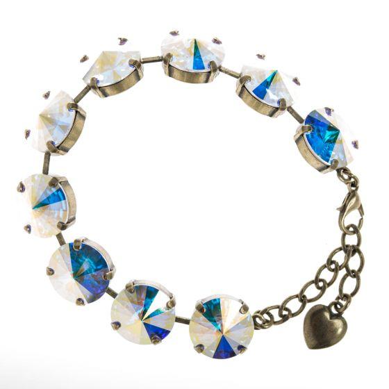 YPMCO 14mm Aurora Borealis Rivoli Swarovski Crystal Bracelet