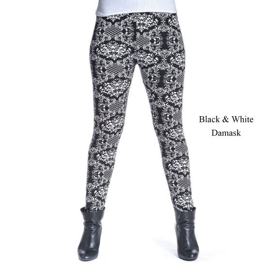 Warm Fleece Lined Leggings by Accent  - Assorted Prints