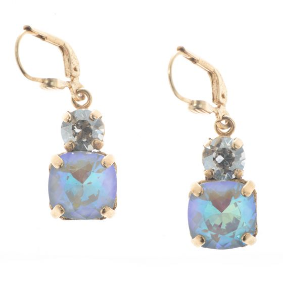 Catherine Popesco Double Crystal Combo Earrings - Assorted Colors