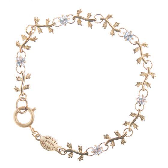 Catherine Popesco Gold Crystal Vine Bracelet