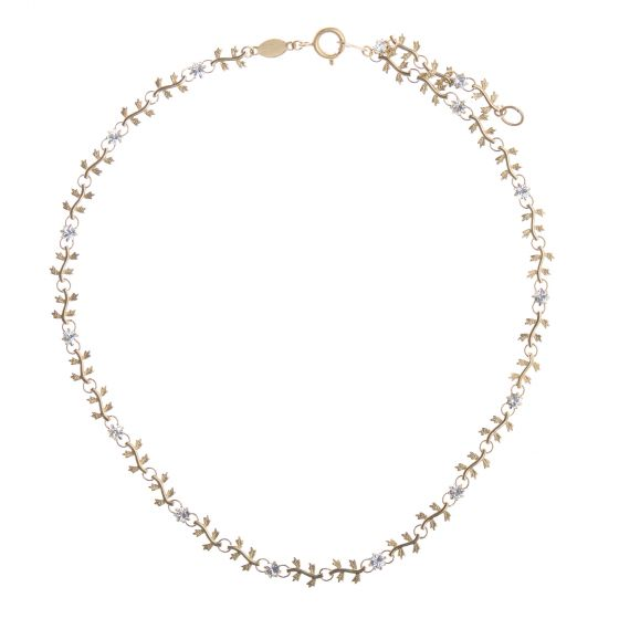 Catherine Popesco Gold Crystal Vine Necklace