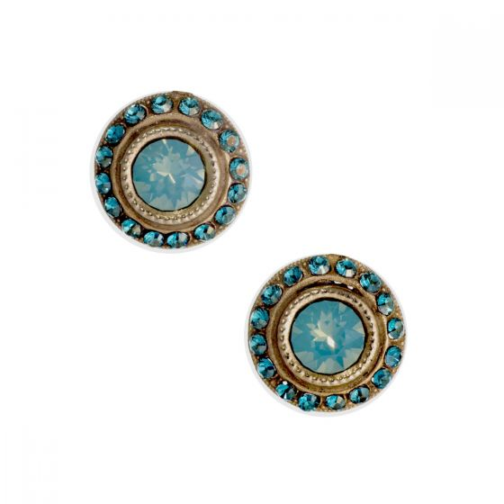 Catherine Popesco Round Rhinestone Post/Stud Earrings - Assorted Colors