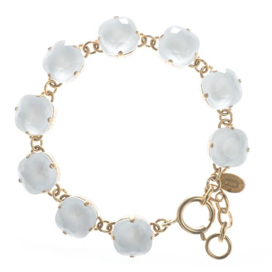 New Color! Catherine Popesco 12mm Large Stone Crystal Bracelet - Powder Gray