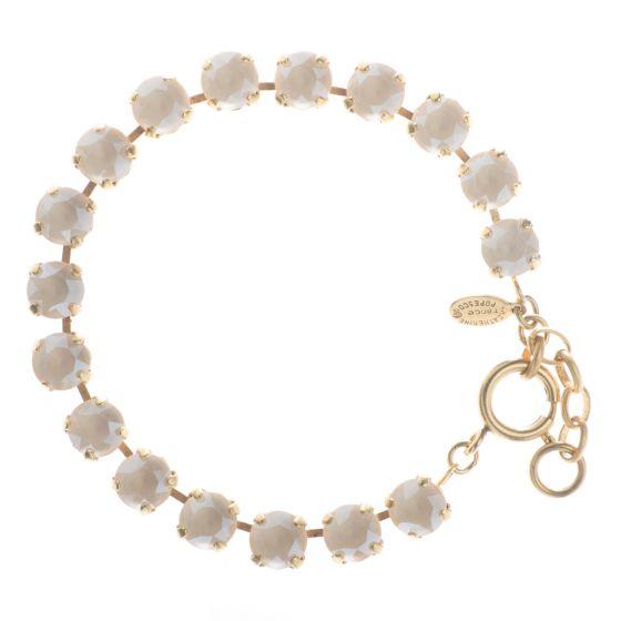 Catherine Popesco 8mm Crystal Tennis Bracelet - Ivory Cream