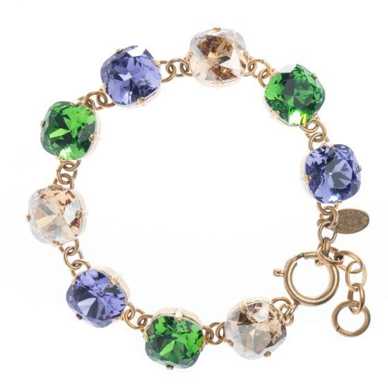 Mardi Gras Combo! Catherine Popesco Large Stone Crystal Bracelet