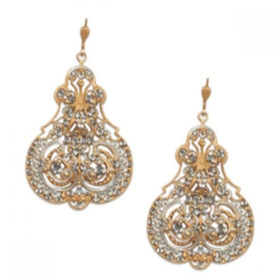 Catherine Popesco Marie French Enamel Contessa Crystal Earrings