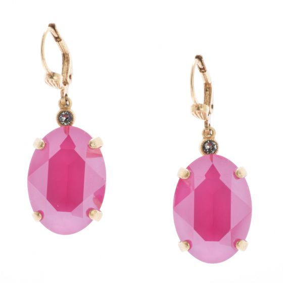 Catherine Popesco Oval Stone Earrings - New Crystal Lacquer Colors
