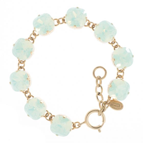 New Color! Catherine Popesco 12mm Large Stone Crystal Bracelet - Sea Opal