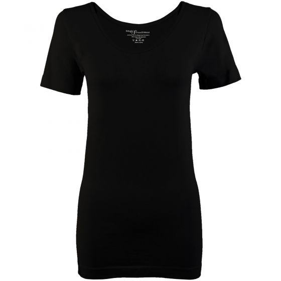 Slimming Magic SmoothWear Short Sleeve Top - Black