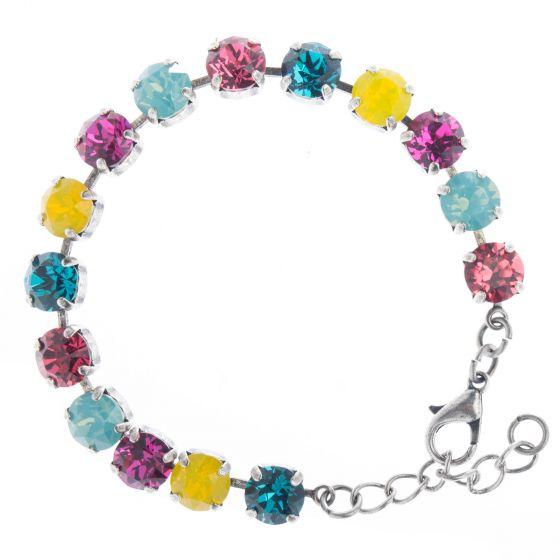 YPMCO 8mm Swarovski Crystal Tennis Bracelet - Summer Combo