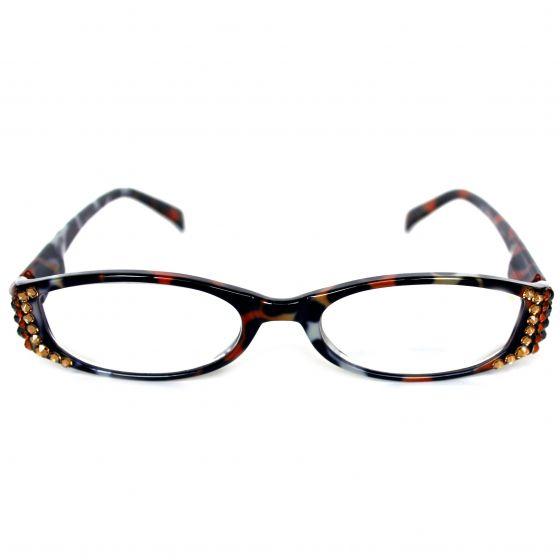 Majestic Eyewear Leopard/Cheetah Swarovksi Crystal Readers