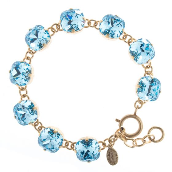 Catherine Popesco 12mm Large Stone Crystal Bracelet - Aqua Blue