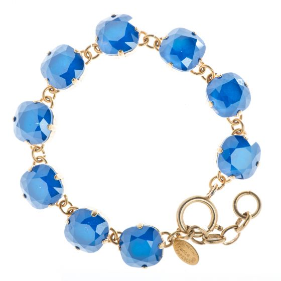 New Color! Catherine Popesco 12mm Large Stone Crystal Bracelet - Royal Blue