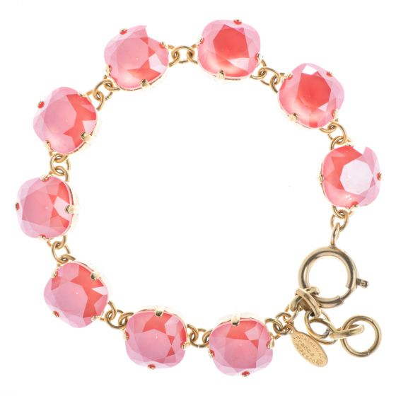 New Color! Catherine Popesco 12mm Large Stone Crystal Bracelet - Light Coral