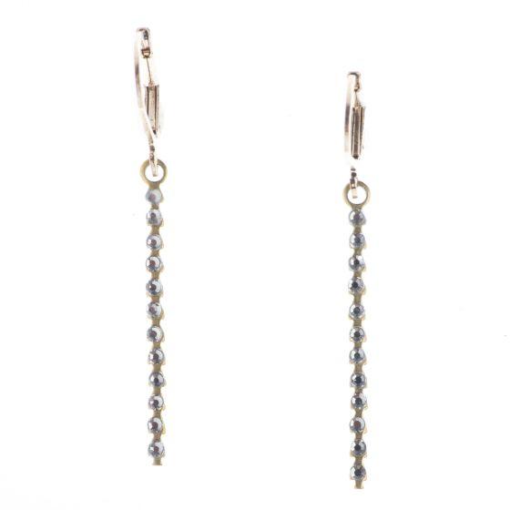 Top Shelf Jewelry Brass Baby Stick Assorted Crystal Earrings