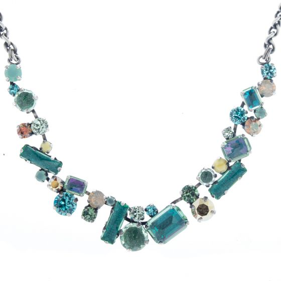 Konplott Jewelry - To Katharine With Love 2 Green Antique Silver Necklace
