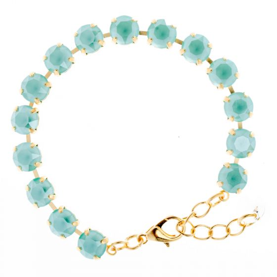 YPMCO 8mm Swarovski Crystal Tennis Bracelet - Assorted Colors