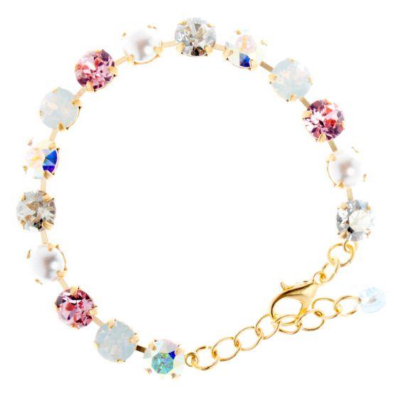 YPMCO 8mm Swarovski Crystal Tennis Bracelet - Pearl Combo