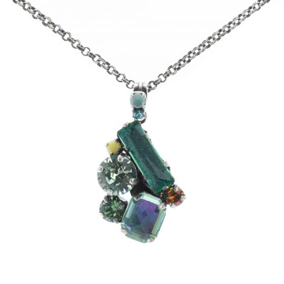 Konplott Jewelry - To Katharine With Love Green Antique Silver Necklace