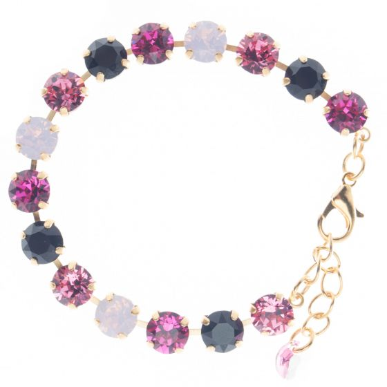 YPMCO 8mm Swarovski Crystal Tennis Bracelet - I Love Paris Combo