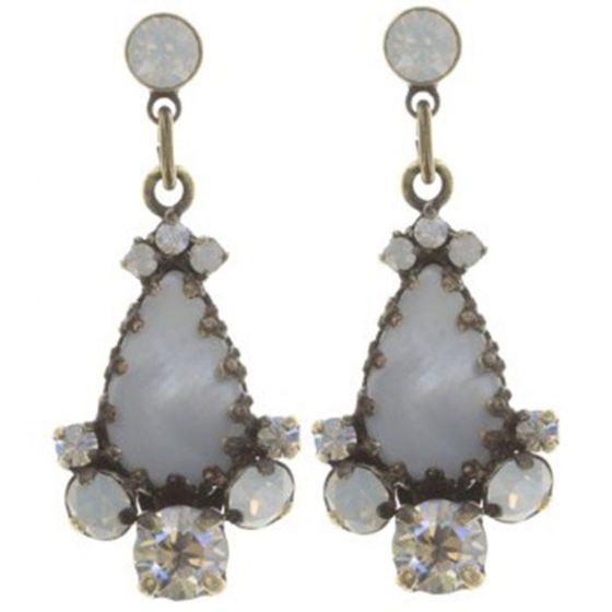 Konplott Jewelry - Dangerous Liaisons White Mother of Pearl Teardrop Post Earrings