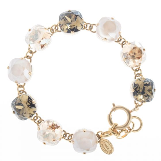 Catherine Popesco Large Stone Crystal Bracelet - Fall Combo