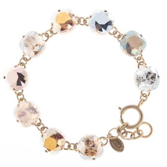 Catherine Popesco Large Stone Crystal Bracelet - Metallic Combo