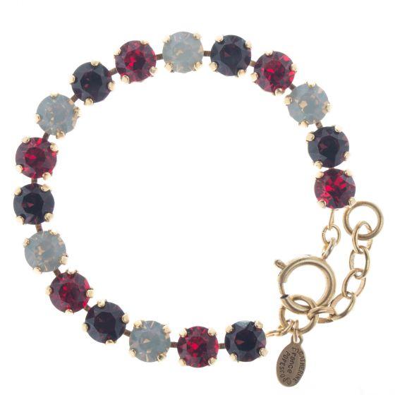 Catherine Popesco Multi Color Crystal Bracelet - Ruby Red Combo