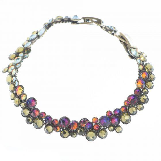 Konplott Jewelry - Green & Lila Inside Out Swarovski Crystal Bracelet