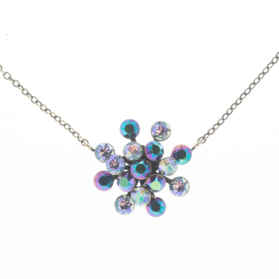 Konplott Jewelry - Green Lila Magic Fireball Crystal Pendant Necklace