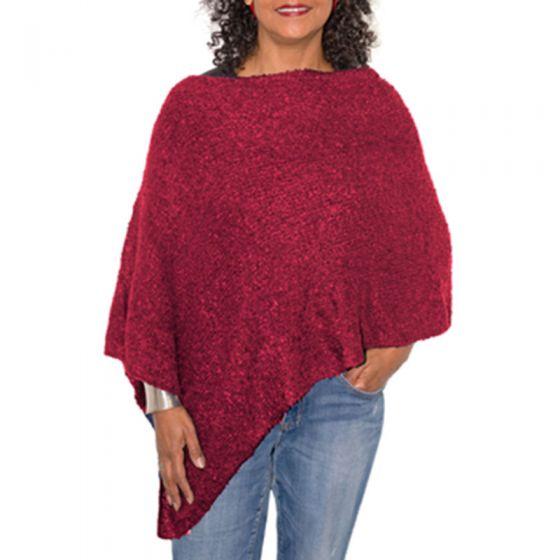 Van Klee Warm Heavy Boucle Knit Ponchos - Assorted Colors