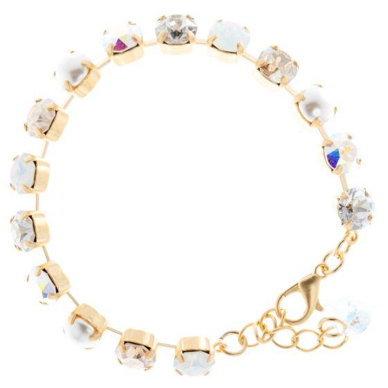 YPMCO 8mm Swarovski Crystal Tennis Bracelet - Bridal Combo