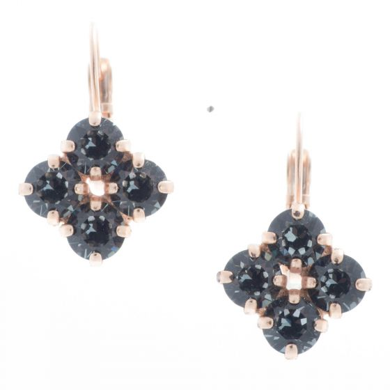 YPMCO Diamond Shape Quad Crystal Drop Earrings - Assorted Colors