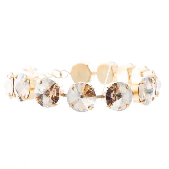 YPMCO 12mm Rivoli Champagne Swarovski Crystal Bracelet
