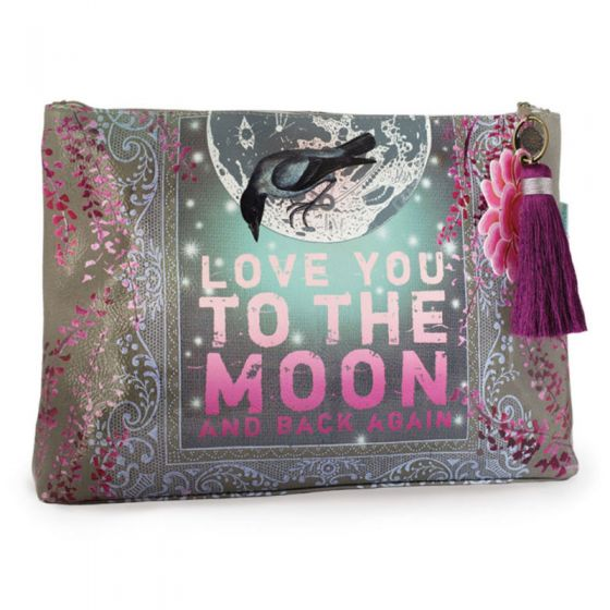 Papaya! Large Accessory Pouch - Love You To The Moon and Back Again