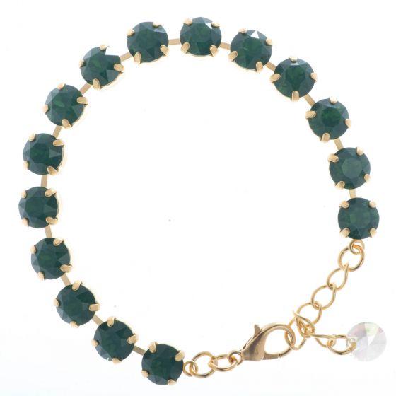 YPMCO 8mm Palace Green Opal Swarovski Crystal Tennis Bracelet