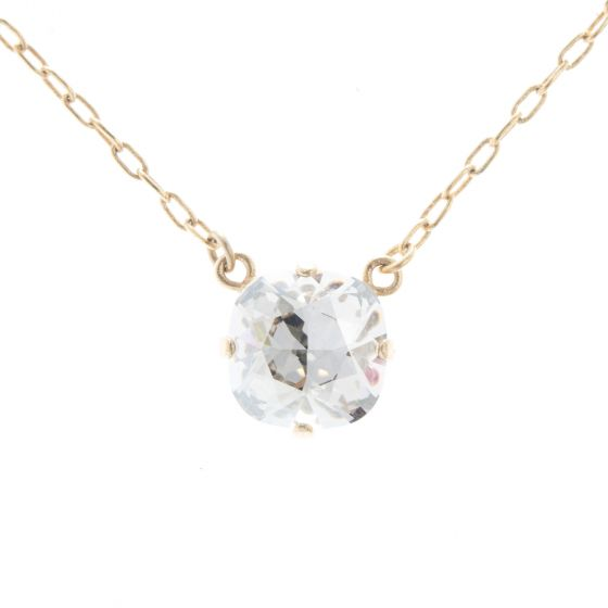 Catherine Popesco Single Stone Crystal Necklace  - Assorted Colors