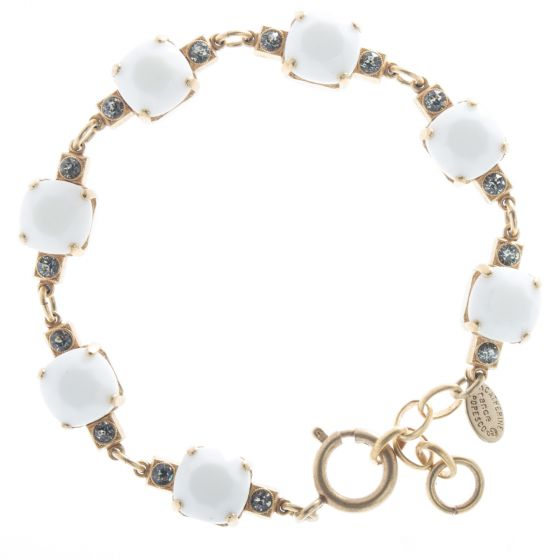 Catherine Popesco Medium Stone Crystal Bracelet - White Alabaster