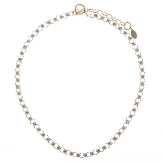 Catherine Popesco Petite Stone Diamond Crystal Tennis Necklace