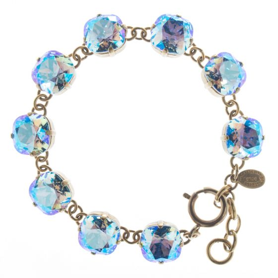 New Color! Catherine Popesco 12mm Large Stone Crystal Bracelet - Sapphire Shimmer