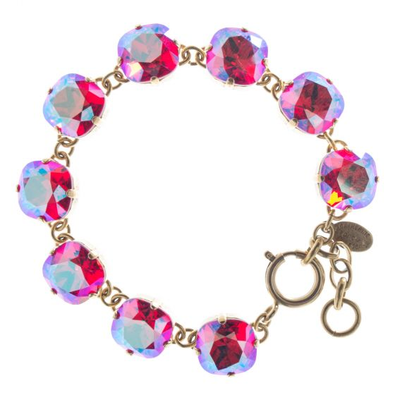 New Color! Catherine Popesco 12mm Large Stone Crystal Bracelet - Siam Shimmer