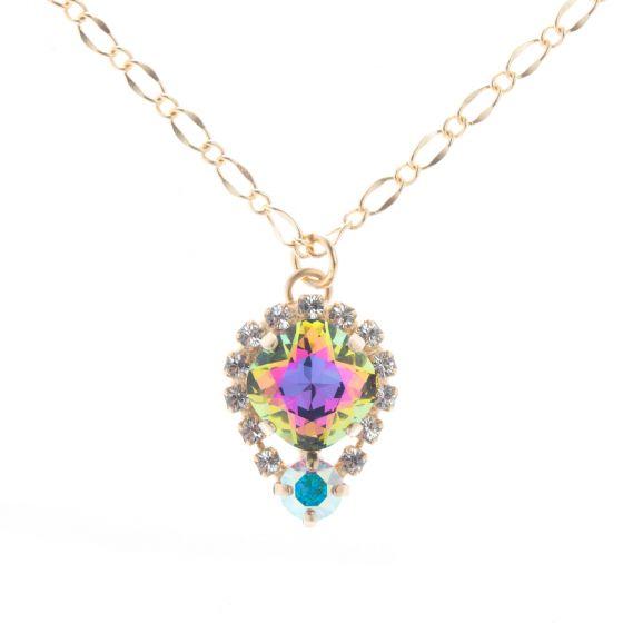 Lisa Marie Jewelry Swarovski Crystal Drop Pendant Necklace