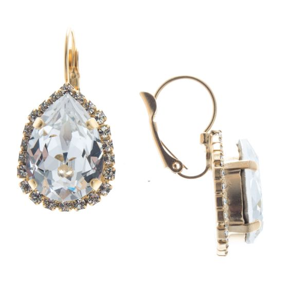 Lisa Marie Teardrop Swarovski Crystal Rhinestone Earrings