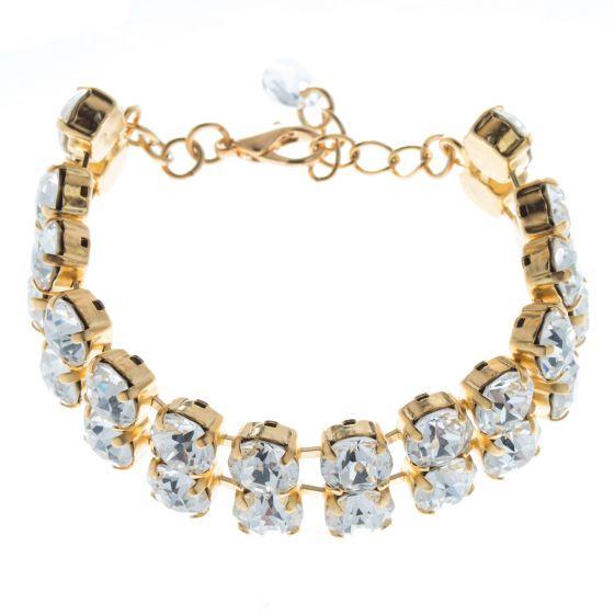 Lisa Marie Jewelry Double Row Swarovski Crystal Tennis Bracelet