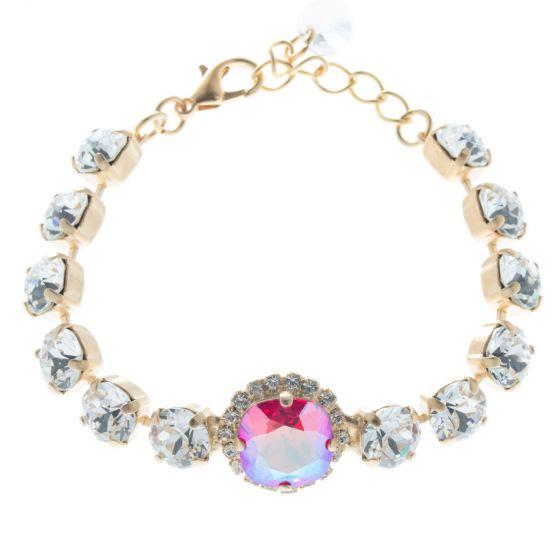 Lisa Marie Jewelry Swarovski Crystal Tennis Bracelet with Center Stone