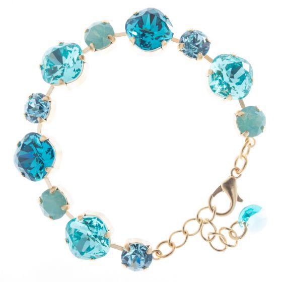 Lisa Marie Jewelry Swarovski Crystal Bracelet - Aqua Combo