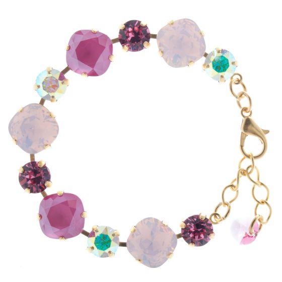 Lisa Marie Jewelry Swarovski Crystal Bracelet - Peony Pink Combo